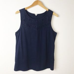 J. Crew Navy Blue Lace Camisole